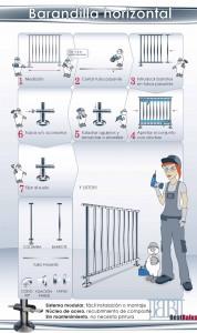 Instrucciones de montaje de barandillas horizontales BestBalus