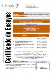 Certificado de resistencia mecánica